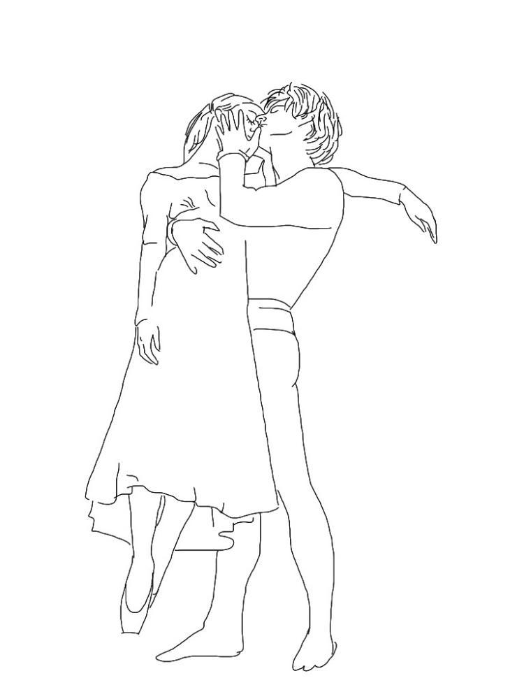 рисунок ромео и джульетта раскраска забавные пожелания день